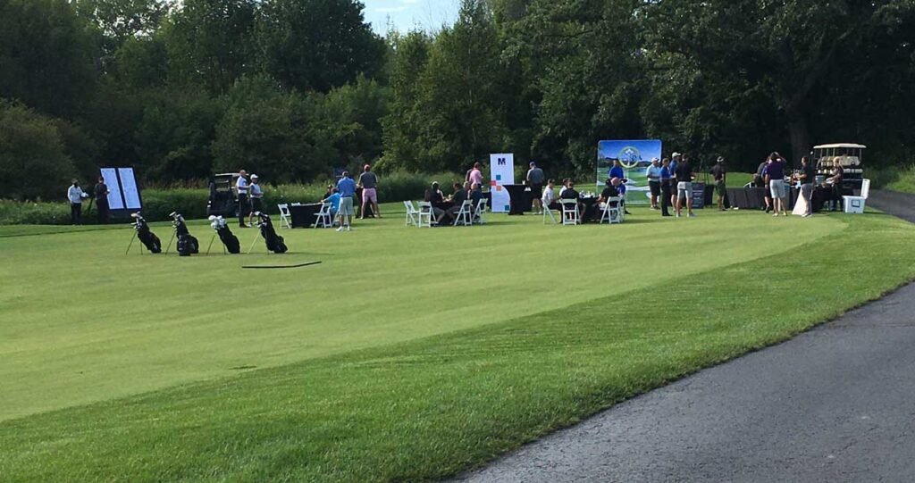 Beautiful day on the course at the NEW Manufacturing Alliance 3rd Annual President's Cup Scholarship Golf Scramble.