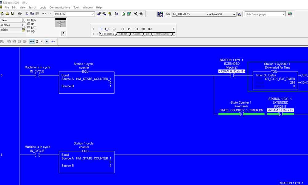 Software development by PanelTEK forAllen-Bradley PLC Programming & HMI programming.